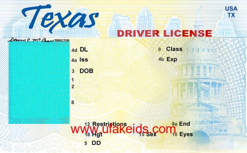 tx fake id template  with images