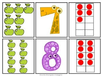 Fun With Numbers 1-10 - Counting and Ten Frames - FREE!