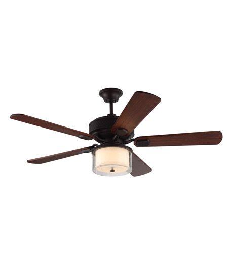 "Monte Carlo Fans Hillsborough 54"" 5 Blade Ceiling Fan in Espresso 5HLR54ES"