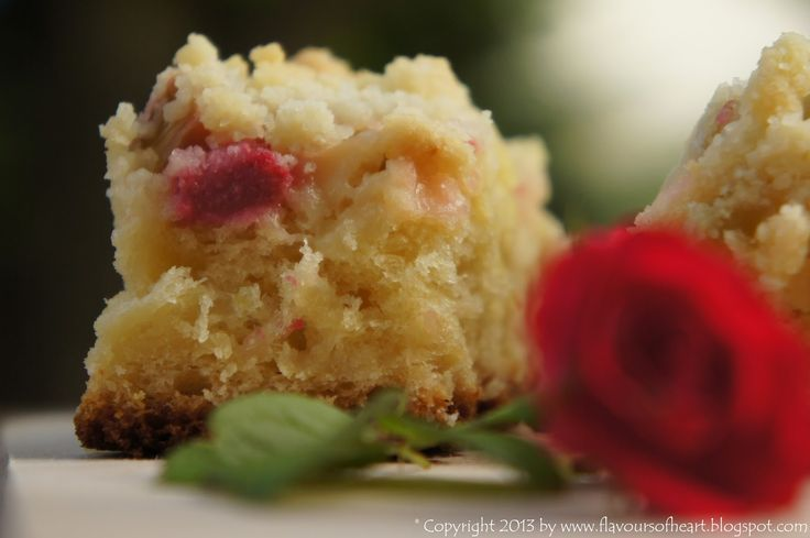 #yeast cake with #rhubarb