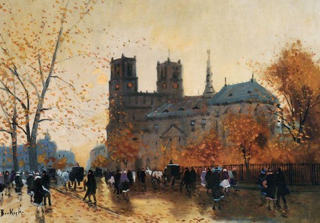 Antal Berkes  (1874-1938) Párizsi Notre-Dame.