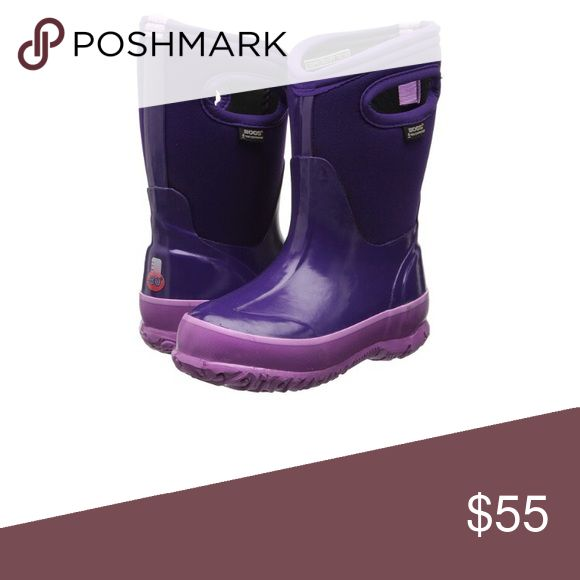 NWT Little Girls Size 3 Purple Bogs Winter Boots New in Box Bogs Shoes Rain & Snow Boots