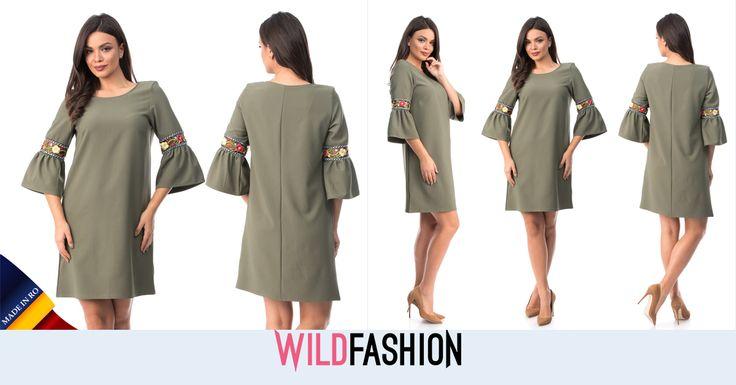 Iti doresti o rochie trendy, intr-un stil autohton? Iti recomand acest model MADE IN RO: