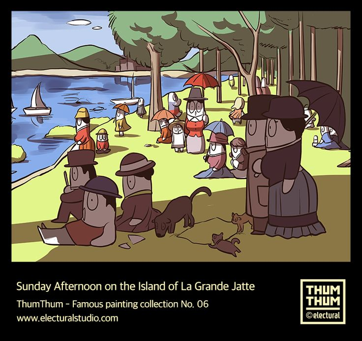 #A_Sunday_on_La_Grande_Jatte  #Famouspaintingcollection No.06  #그랑_자트_섬의_일요일  - #ThumThumAndFriends  #Thumbup #illustration #art #frame #picture #character #design #ThumThum #떰떰앤프렌즈 #sketch #drawing #스케치 #illust #드로잉 #그림 #good #일러스트 #funny #lovers #likes #colors #daily #cartoon #패러디 #parody #Electural #일렉츄럴 by. #ElecturalStudio
