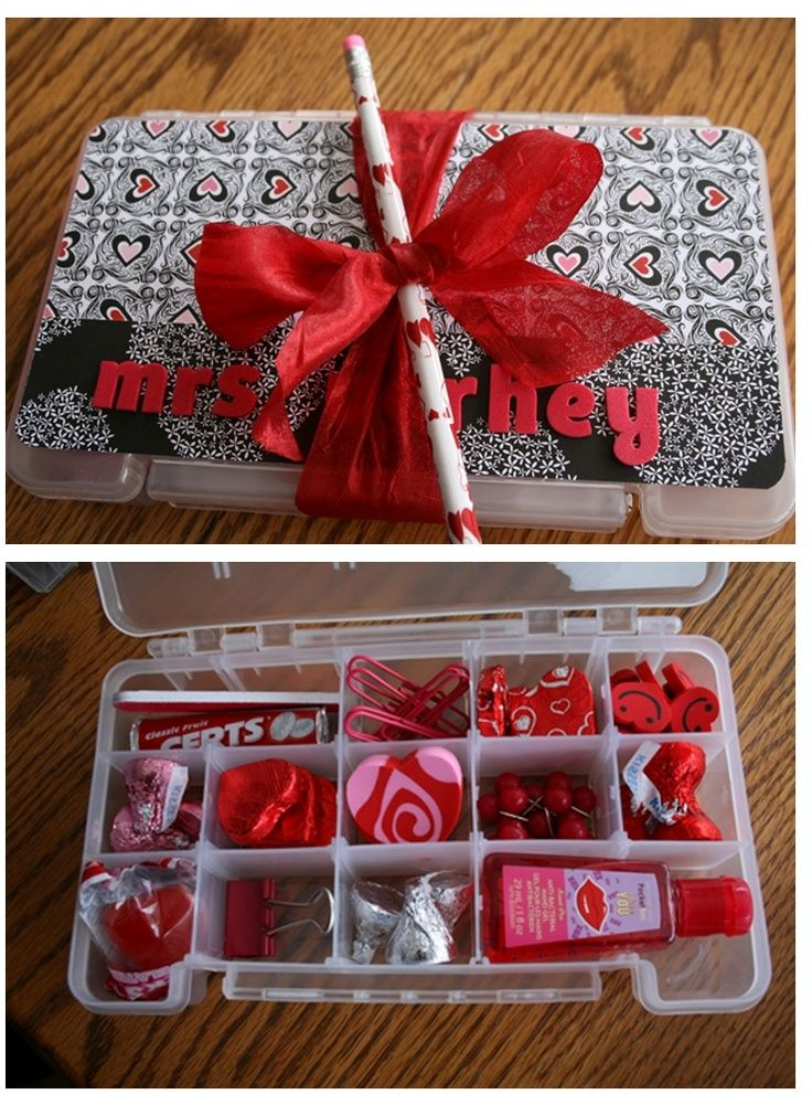 Cute Everything RED Valentine Teacher Gift (from Paperclips To Candy)!
