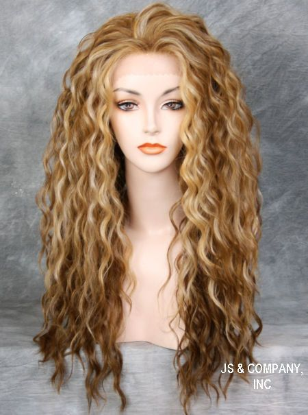 Two tone Blondes Tangerine mix HEAT SAFE Lace Front wig Curly Wavy NBH 2216 in Clothing, Shoes & Accessories | eBay