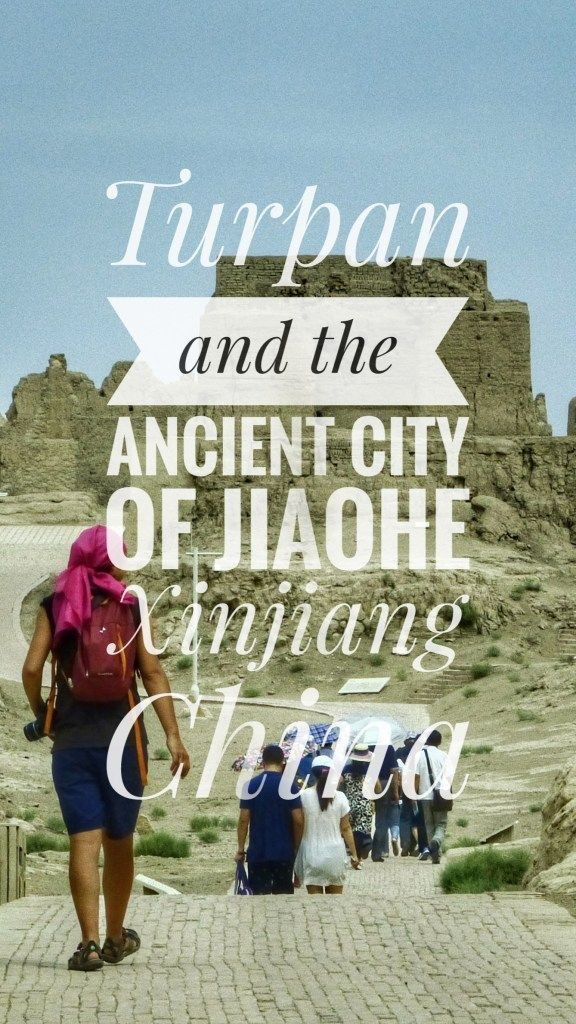 Turpan travel guide. Bicycle Touring and things to do in Turpan, adventure travel in the oasis of Xinjiang  the ancient city of Yar (or Jiaohe), how to get there traveling by bicycle and some more facts about Xinjiang, Western China. This article is part of our bicycle trip in China. #China #Xinjiang #Turpan #Desert #Oasis #adventure #adventuretime #roadtrip #bicycletouring #bicycletravel #worldbybike #cycling #cicloturismo #bikepacking #slowtravel #offthebeatenpath #travel #onabudget…