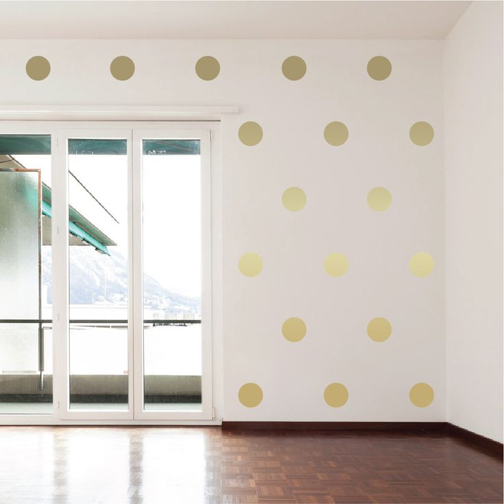 Best 25 Polka dot wall decals ideas on Pinterest Gold dot wall