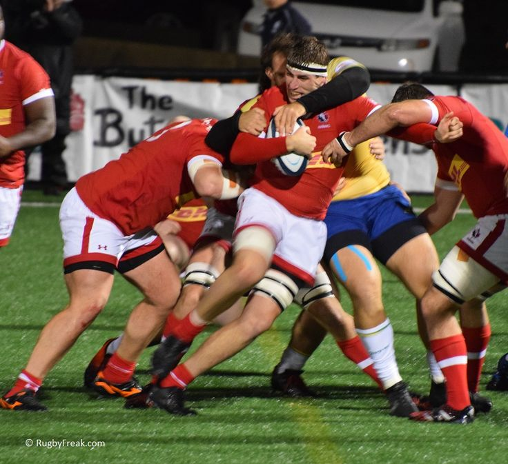 Canadian player fights to retain possession during ARC game against Brazil. #rugbyfreak #sofreaky #loverugby #rugby #rugbycanada #teambrazil #teamcanada #ARC