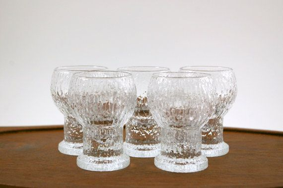 Spotting the Fakes. Five Kekkerit Cordial or Shot Glasses Designed by Timo Sarpaneva for Iittala of Finland