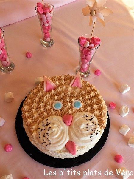 Gâteau d'anniversaire Chat Citron-coco , Les p'tits plats de Véro