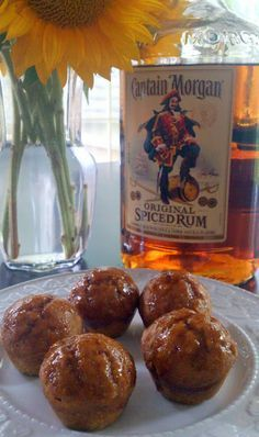 Bake It With Booze!: Spiced Rum Pumpkin Poppers #fall #pumpkin #Captain Morgan