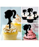 Cp162 cupcake toppers barbie girl birthday Package : 10 pcs - $10.00