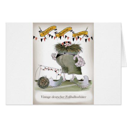 vintage german goalkeeper card - birthday cards invitations party diy personalize customize celebration