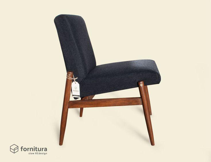 "Fotel ""Czarna owca"" lata 60-te : Kanapy i fotele od Fornitura"