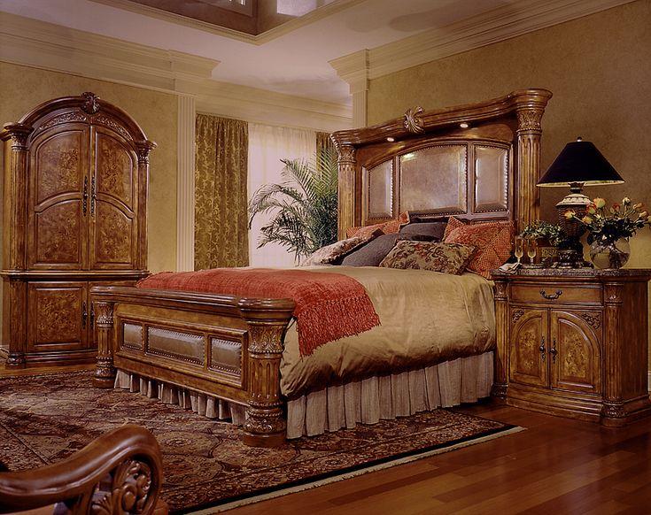Aico Furniture Monte Carlo 8-piece Mantel Bedroom Set