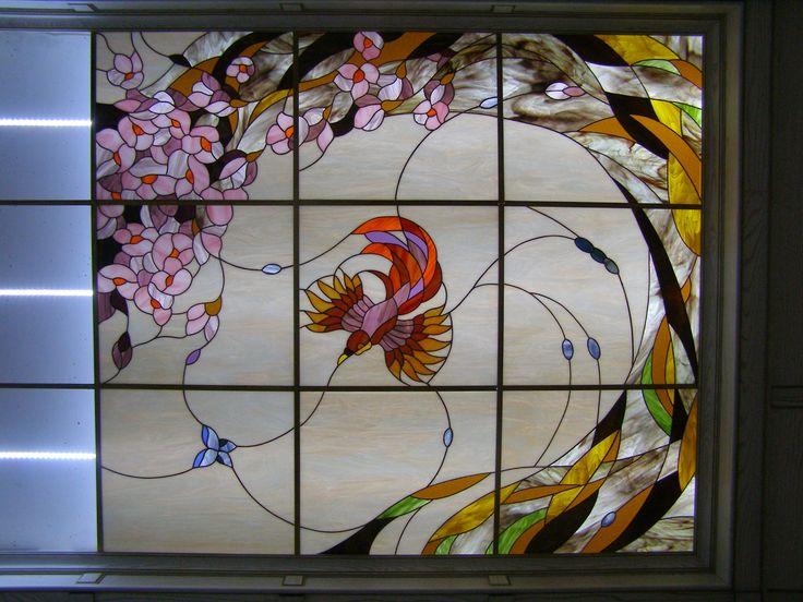 Manchado Azov. Studio City Helen Reznikova Azov   techos y luminarias de cristal tintado