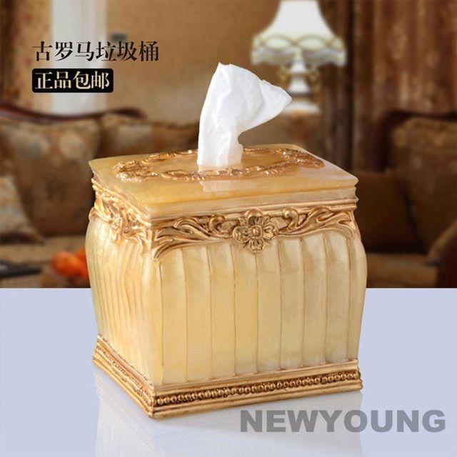 Europa Retro Stijl Hars Materiaal Creatieve Tissue Dozen Antieke Noble Home Decorating Tissue Doos DIY Hoge Kwaliteit Gratis Verzending in als u kopers en ondertussen hebben voordeel van hoeveelheden, aarzel communiceren met ons over onze prijs. we zeker bie van weefsel dozen op AliExpress.com | Alibaba Groep
