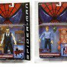 "#Spiderman Movie Legends #GreenGoblin Osborn/ J Jonah Jameson 6"" AF Set #Marvel 2002 #Toybiz"