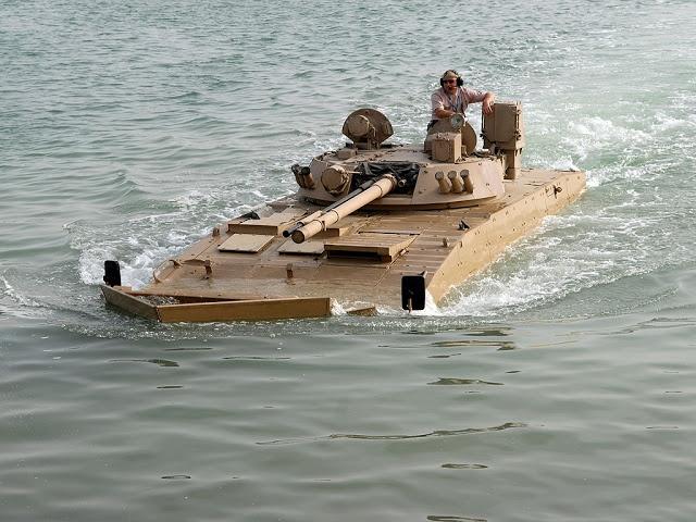 Patria AMV during waterborne demonstration.