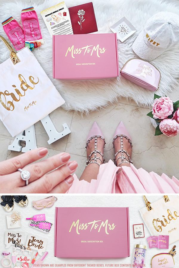 Miss To Mrs Bridal Subscription Box Theme 2 Ultimate Bridal Swag Feb 2018 Thanks To Real Wedding Subscription Box Bride To Be Box Bride Subscription Box
