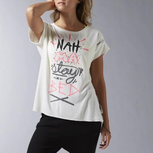#T-shirt fantasia y tie tee Bianconero  ad Euro 42.95 in #Reebok #La redoute donna abbigliamento