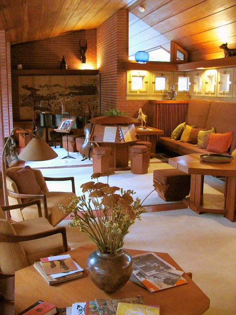 313 best images about frank lloyd wright love on pinterest - Frank lloyd wright house interiors ...