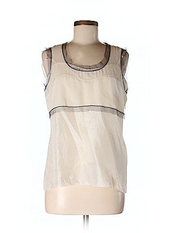 DKNY Sleeveless Silk Top Size 12