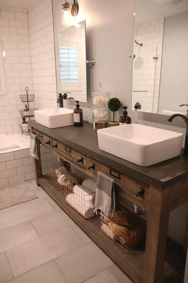 Bathroom Vanity Vintage Kitchen Sink Ikea Farm Sink Industrial Bathroom Vanity Apron Basement Bathroom Remodeling Bathroom Vanity Remodel Bathroom Remodel Cost