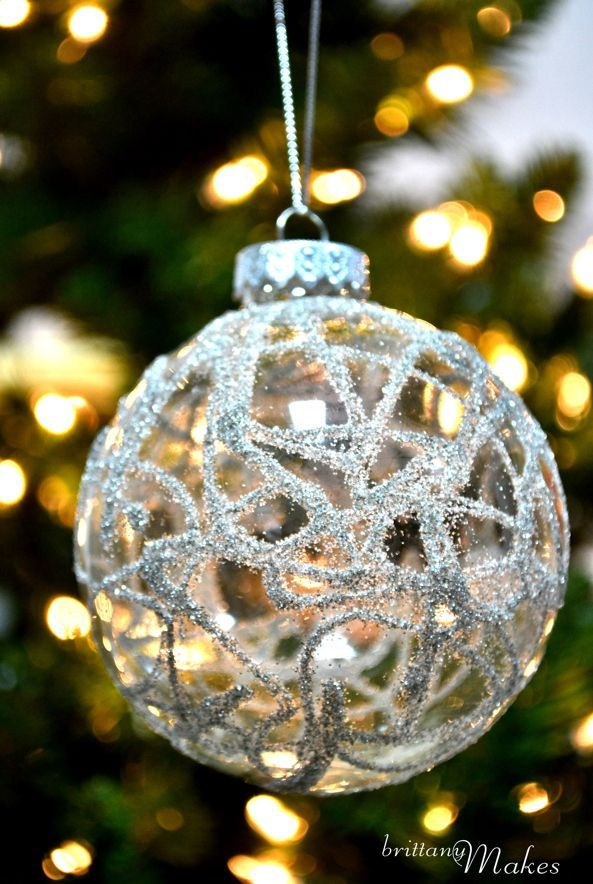 German Glitter Glass Ornament | 39 Ways To Decorate A Glass Ornament