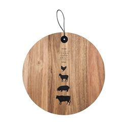 BUTCHER Round  Board With Straps