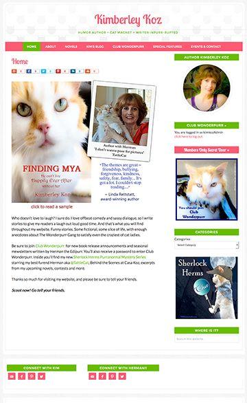 Website for Kimberley Koz: Humor Writer + Cat Magnet = Writer Inpurr-rupted and Club Wonderpurr. Visit the site at http://kimberleykoz.com/.