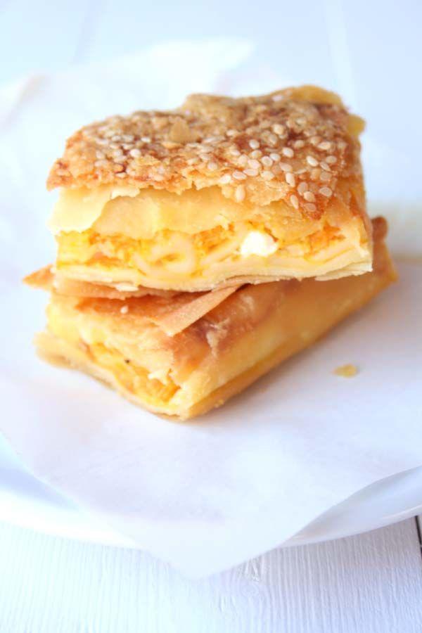 Greek Traditional Savory Pumpkin Pie with Feta cheese