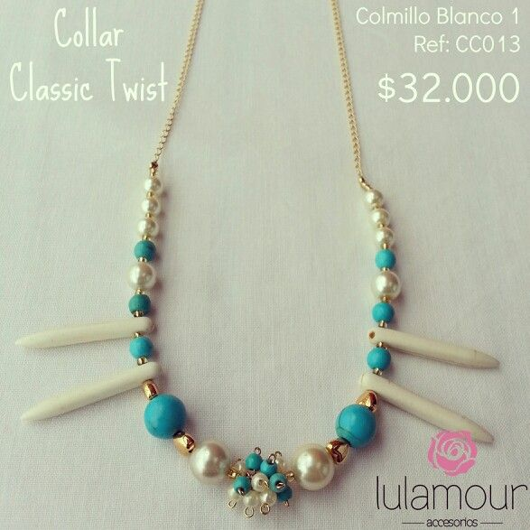 Classic twist necklace. More on @lulamourr on instagram And Lulamour Accesorios on Facebook. Colombian brand