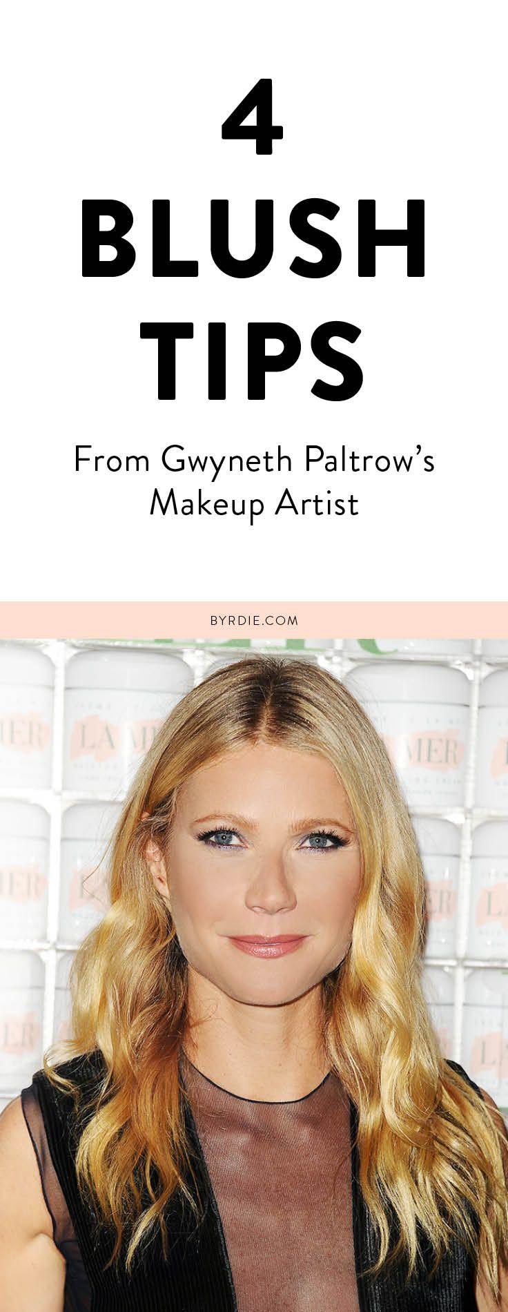 Blush tips that Gwyneth Paltrow swears by