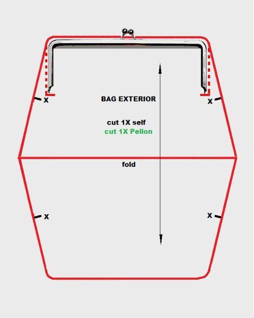 purse frame pattern
