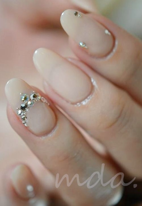 #nail #nails #nailart Goergoues wedding nails :)