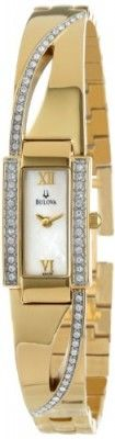 Relógio Bulova Women's 98V28 Crystal Bangle Watch #Relogio #Bulova