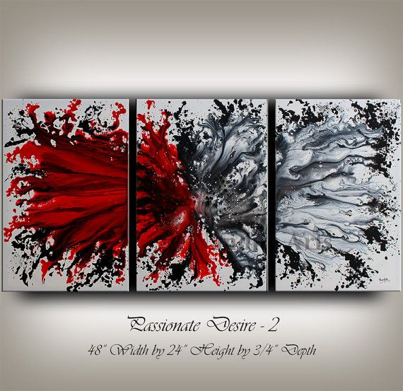 Original Acrylic Abstract painting by ContemporaryArtDaily on Etsy, $650.00