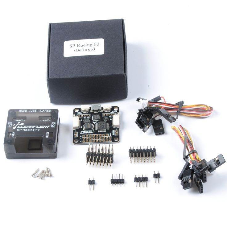 SP racing F3 flight controller deluxe for quadcopter,drone,multicopter.MPU9250 (gyro - acceleration - are integrated electronic compass) sensors, optional needle straight or curved needle.