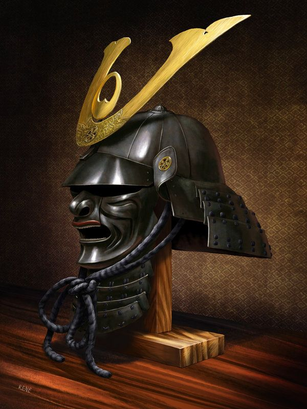 Samurai helmet by Renegraphics.deviantart.com on @DeviantArt