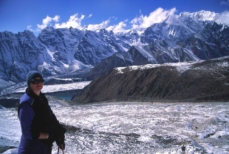 the view from the top of the Larkye La on the Manaslu circuit - my first 5000 metre pass