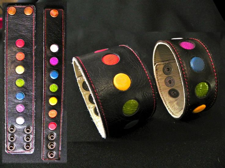 CHAKRA COLORS. Magnetic Leather Wristbands. UNIPOLAR Containing Rare Earth Magnets, facing North (Alkaline to the body).
