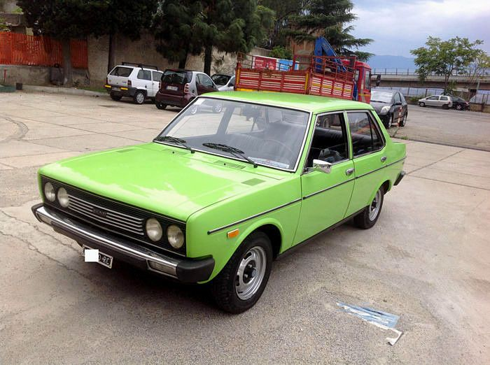 Fiat - 131 Mirafiori 1.6-1975  Fiat - 1975 131 Mirafiori 1.6 DATA - Number plates and documents: Italian - Odometer reading: 29000 km - Owners: 1 - Colour: FI358 light green - Engine: 1600 cc DESCRIPTION Beautiful 1975 Fiat 131 Mirafiori 1.6 in FI358 light green with completely original number plates and vehicle document. Only 29000 km never restored only a few touch ups. Original Fiat service booklet and warranty ticket also present. The car is registered at ASI with CRS every detail is…