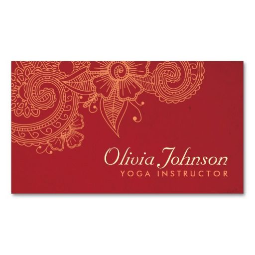 230 best Yoga Business Cards images on Pinterest Business cards