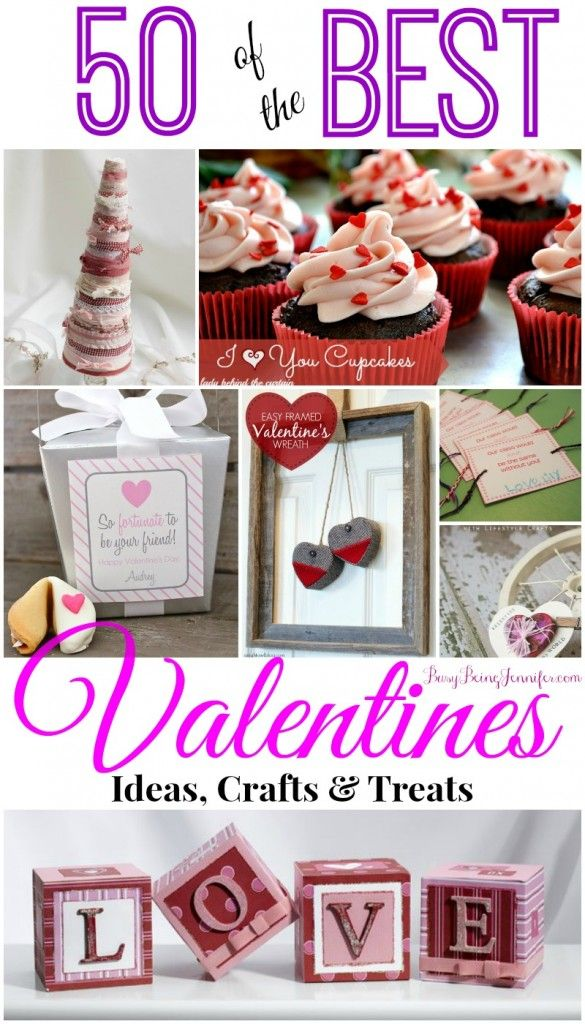 Such a sweet collection: 50 crafty (and yummy) ways to celebrate Valentine's Day.