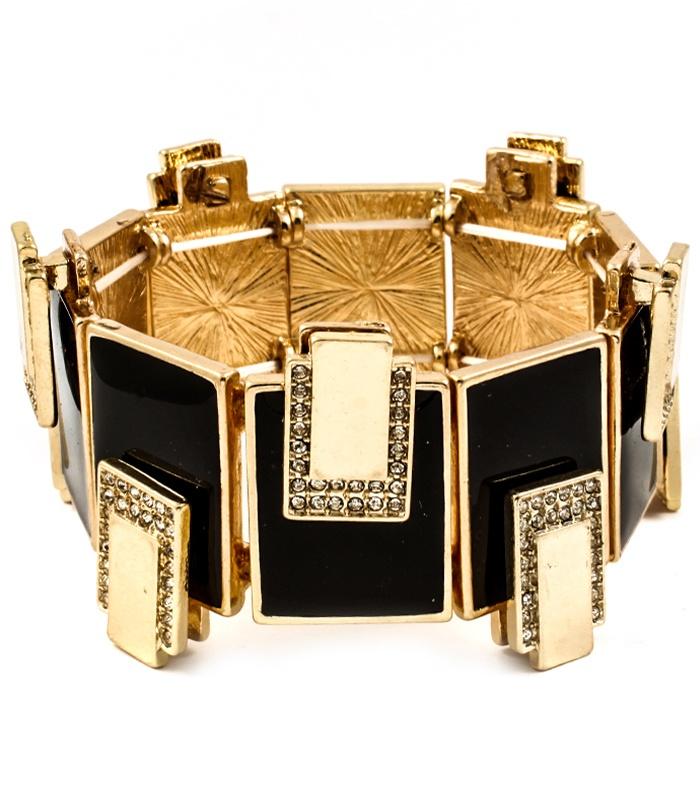 Gld Blk Bracelet