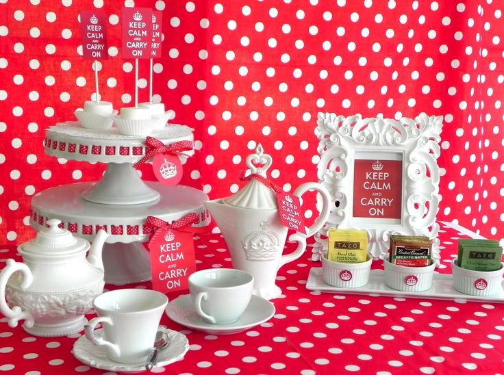 Keep Calm Tea Party: Showers, Shower Ideas, Hot Teas, Tea Party, Teaparty, Royal Tea Parties, Tea Bar, Bridal Shower Tea, Party Ideas