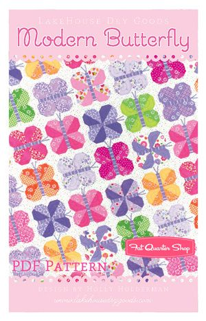 Modern Butterfly Downloadable PDF Quilt Pattern Lakehouse Dry Goods