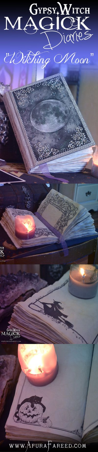 """Witching Moon"" #handmade #book of #shadows #diary #journal"